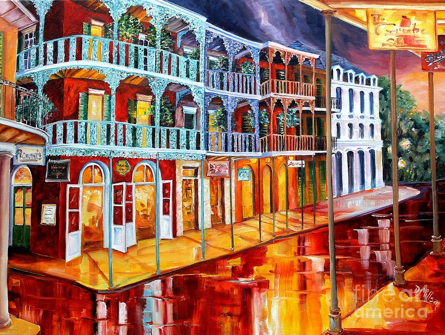 New Orleans Reflections In Red Painting By Diane Millsap
