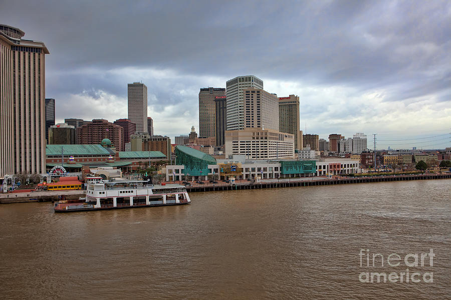New Orleans Photograph - New Orleans Riverfront by Kay Pickens