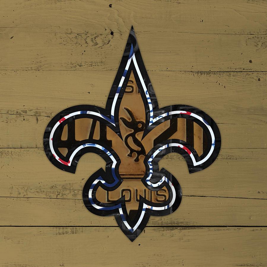 New Orleans Saints Football Team Retro Logo Louisiana