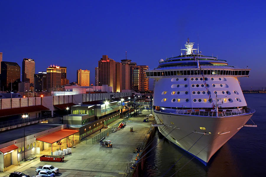 New Orleans Skyline With The Voyager Of The Seas Photograph by Jason Politte