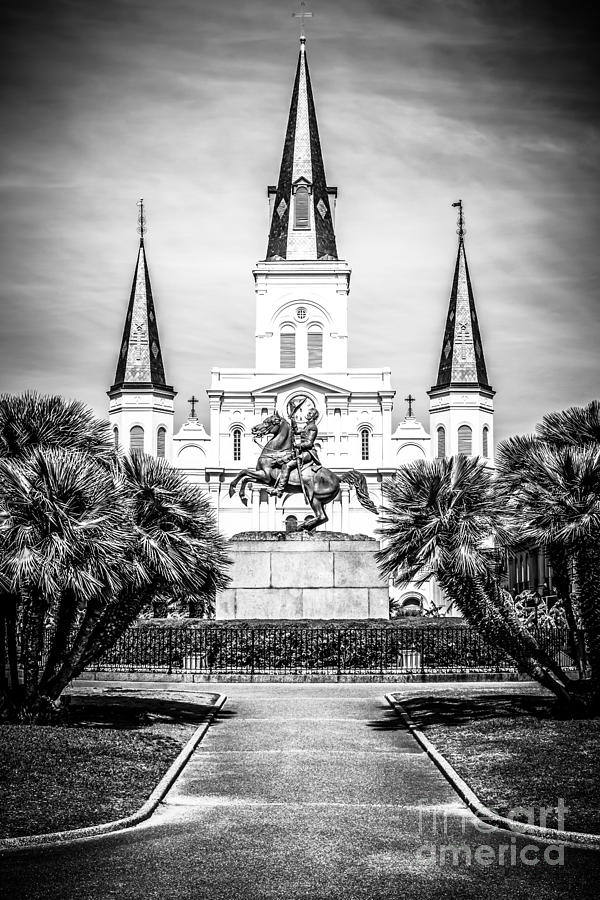 America photograph new orleans st louis cathedral black and white picture by paul velgos