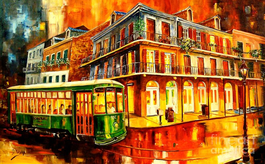 New Orleans Painting - New Orleans Streetcar by Diane Millsap