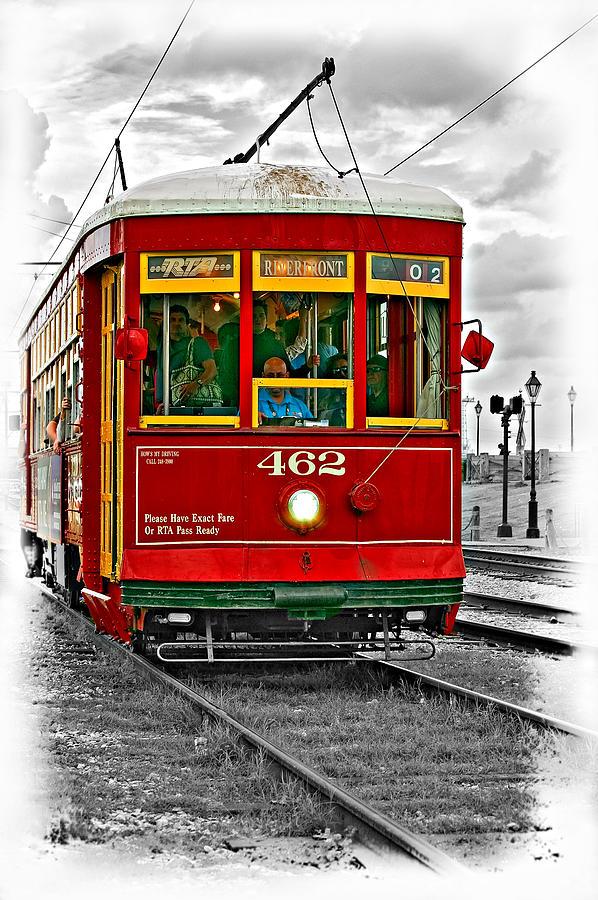 New Orleans Streetcar Vignette Photograph