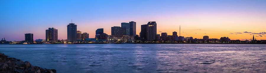 New Orleans Sunset Panorama Photograph by Drnadig