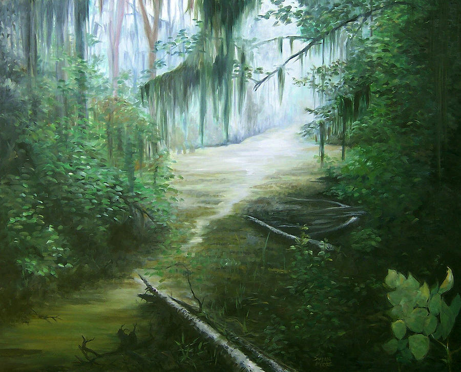 Swamp Painting - New Orleans Swamp by Susan Moore