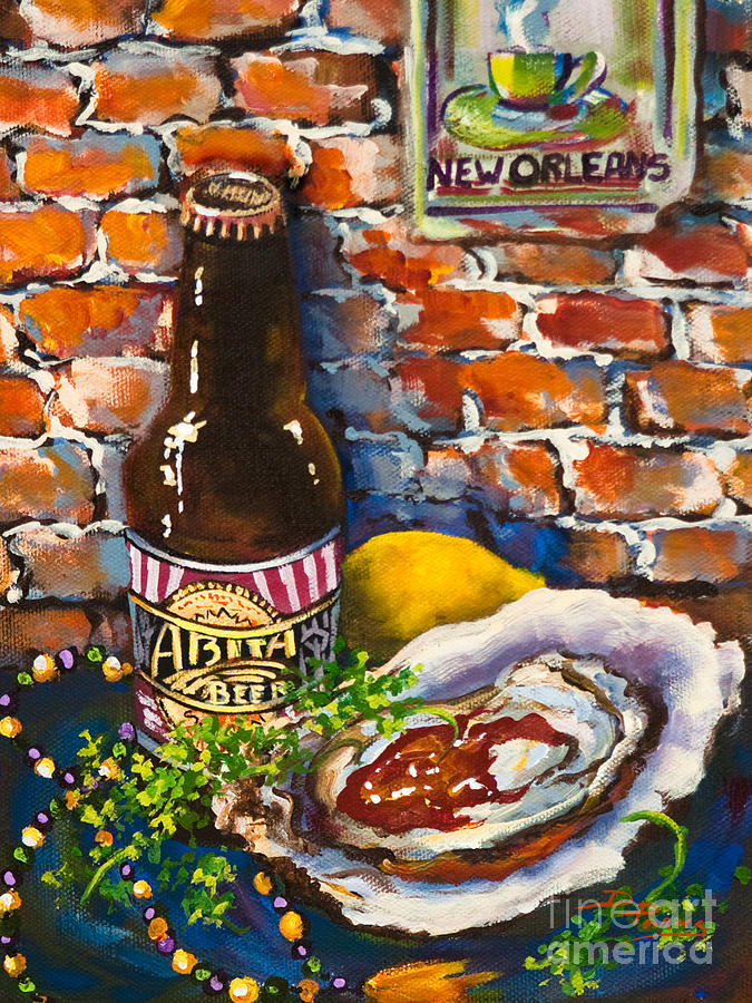 Oyster Painting - New Orleans Treats by Dianne Parks