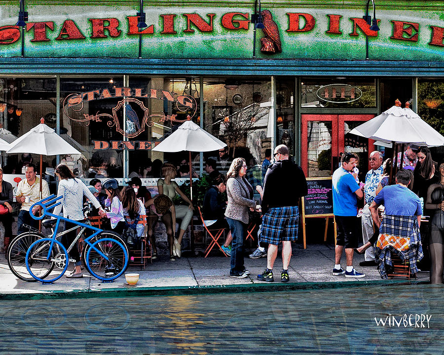 Belmont Heights Digital Art - People Are Flooding To The Starling Diner by Bob Winberry