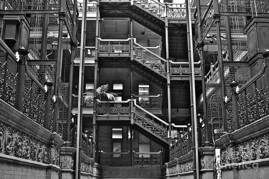Bladerunner Photograph - New Photographic Art Print For Sale Bradbury Building Downtown La by Toula Mavridou-Messer