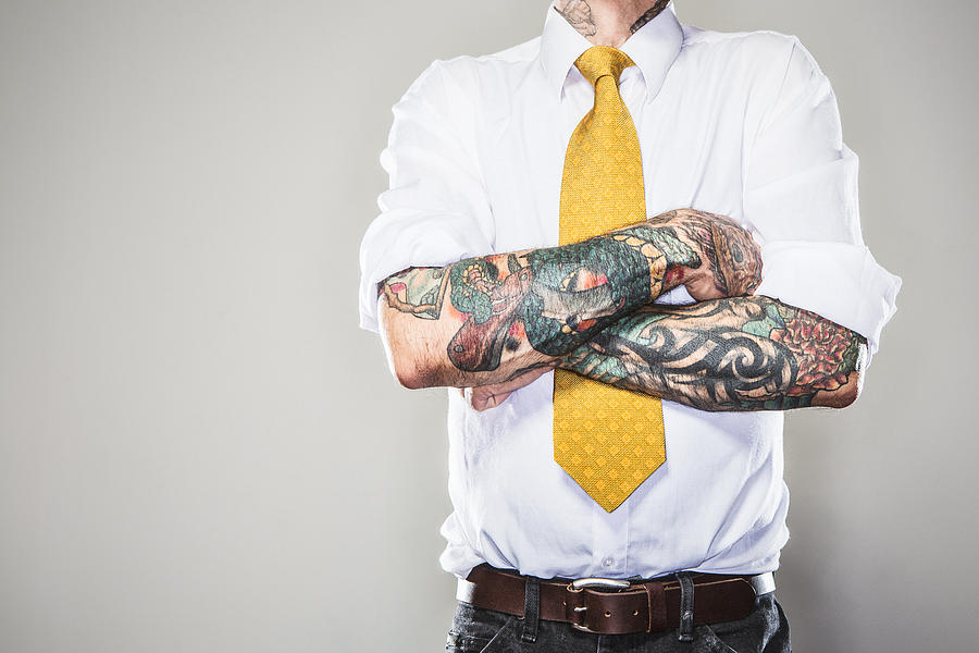 New Professional With Tattoos Photograph by RyanJLane