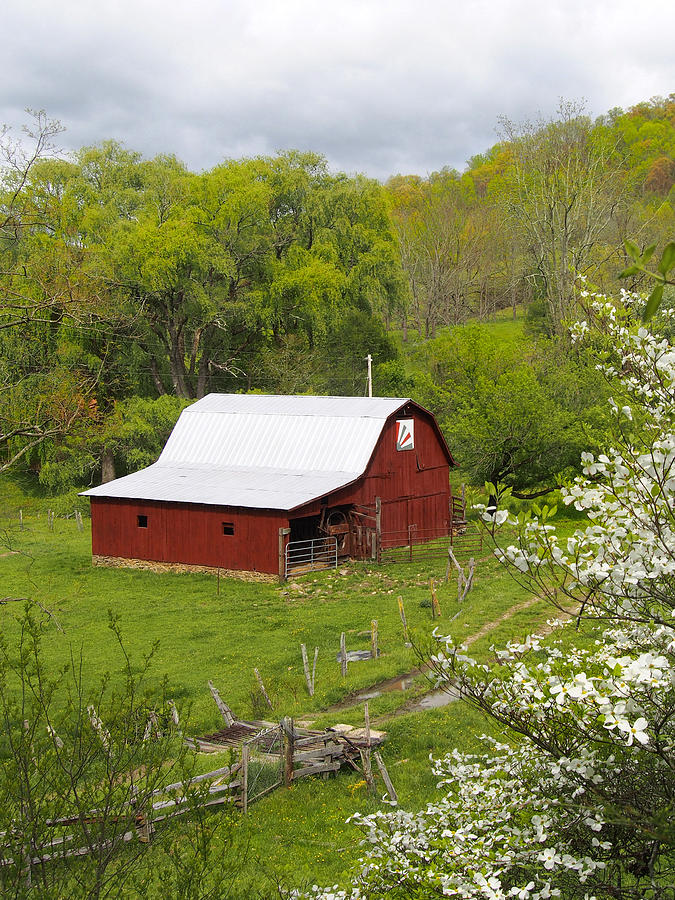 Red Barn Photograph - New Red Paint 2 by Mike McGlothlen