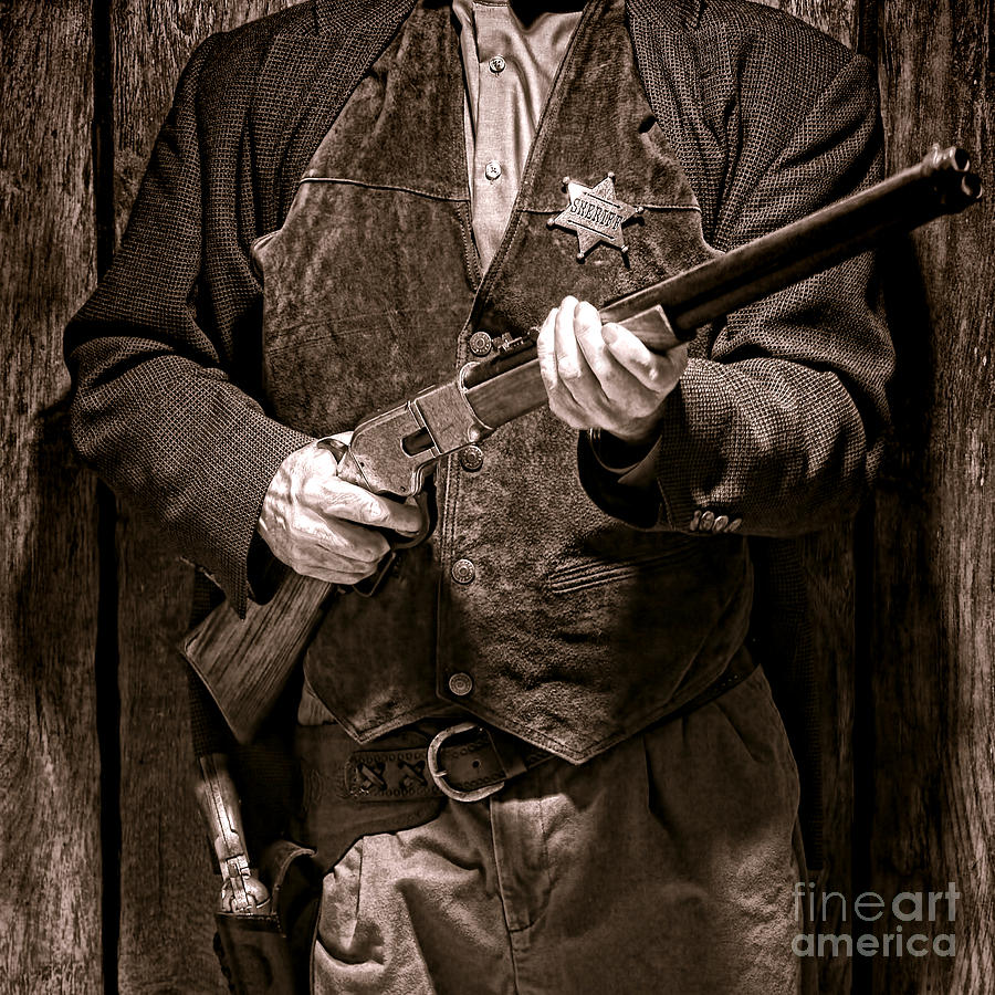Sheriff Photograph - New Sheriff In Town  by Olivier Le Queinec