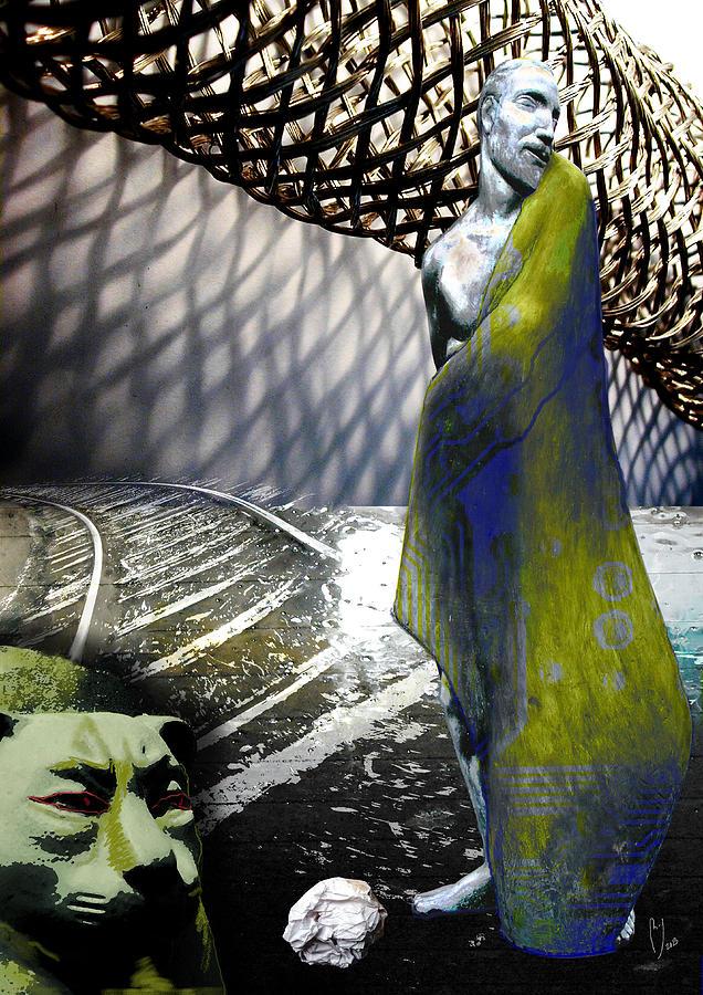 Universe Digital Art - New String Theory by Maria Jesus Hernandez