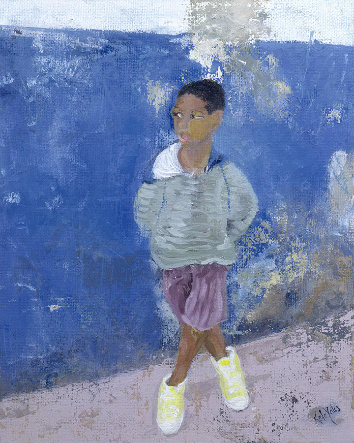 C20th Painting - New Trainers Havana Cuba by Kate Yates