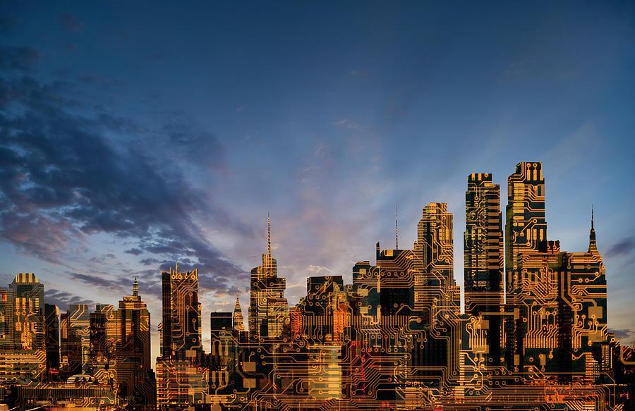 New Urban Technology Skyline Photograph by John Lund
