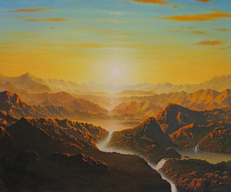 Meditation Painting - New World by Karma Moffett