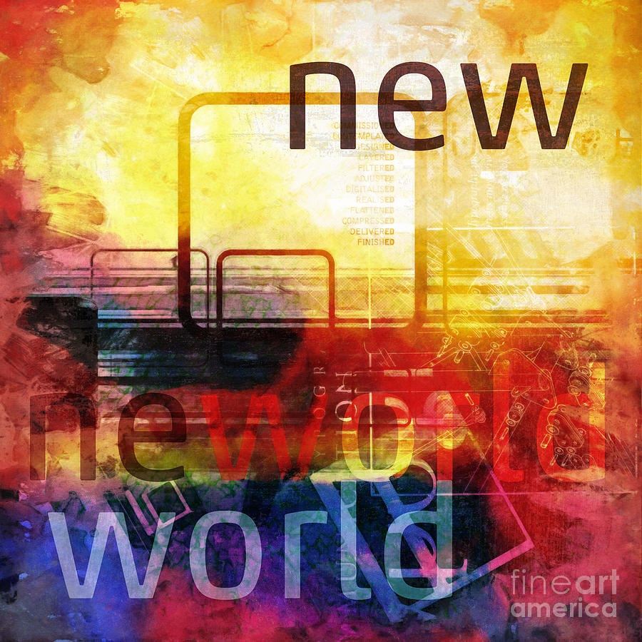 New World Digital Art - New World by Lutz Baar