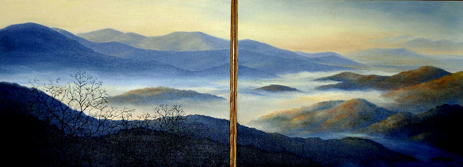 Mountains Painting - New World by Mary Taglieri