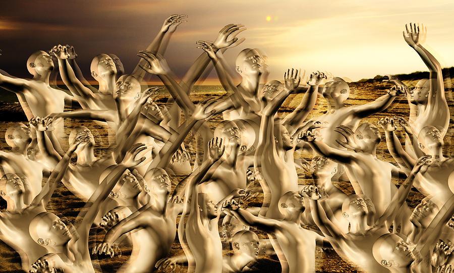 Human Mixed Media - New World Surrender by Betsy Knapp