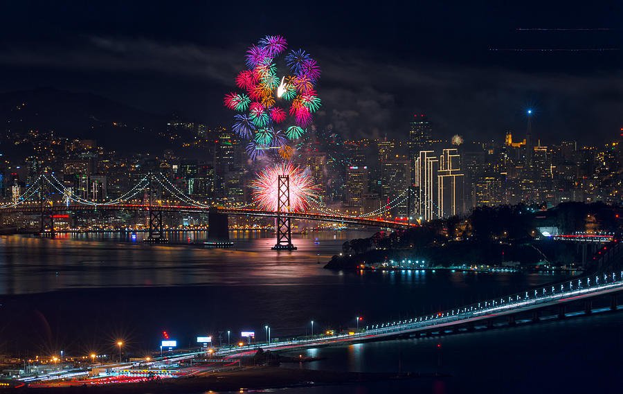 New Year 2015 Fireworks San Francisco Photograph by David Yu