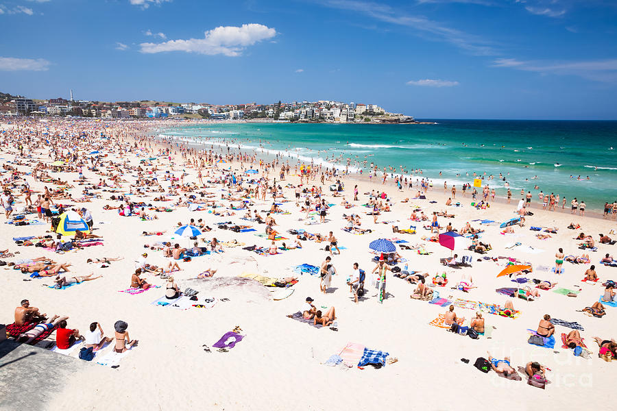 New Year's Day At Bondi Beach Sydney Australi Photograph