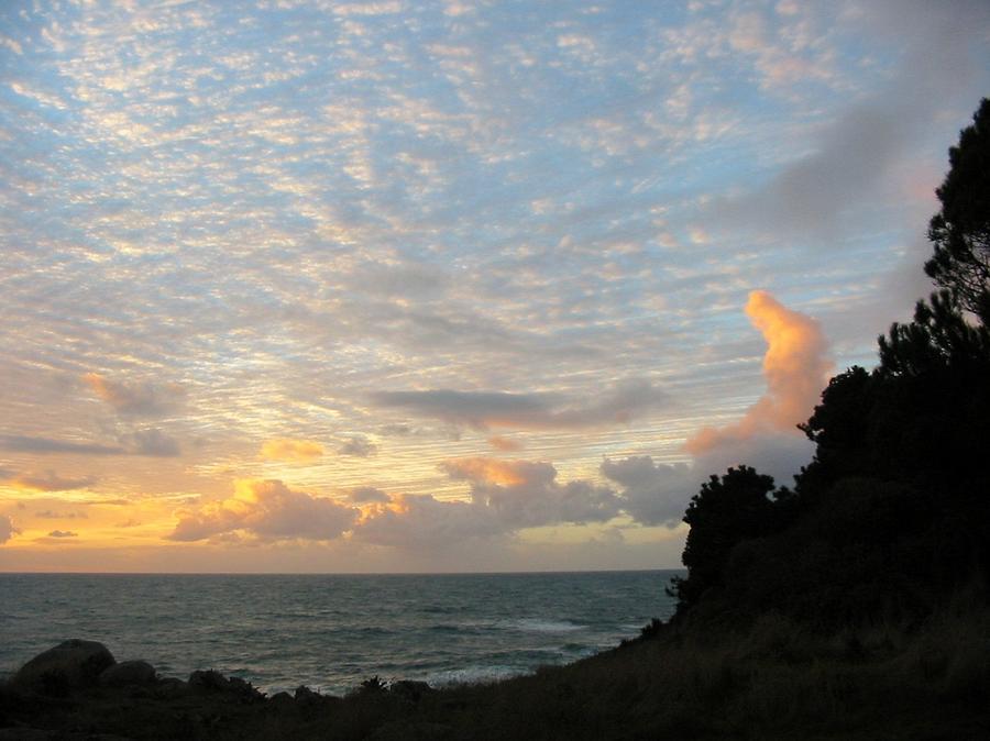 Sunset Photograph - New Years Sunset by Tim McKusick