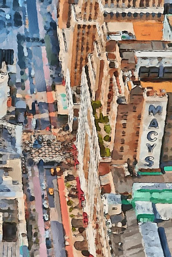 New Digital Art - New York 5 by Yury Malkov