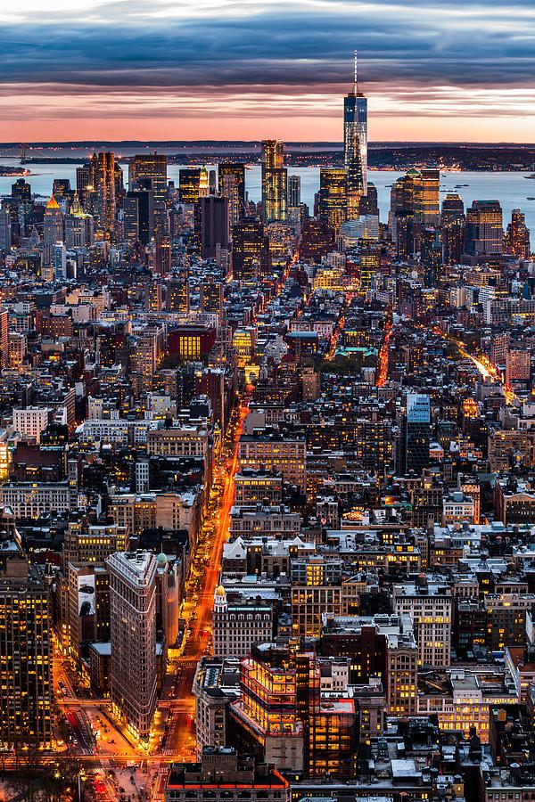 5th Avenue Photograph - New York Aerial Cityscape by Mihai Andritoiu