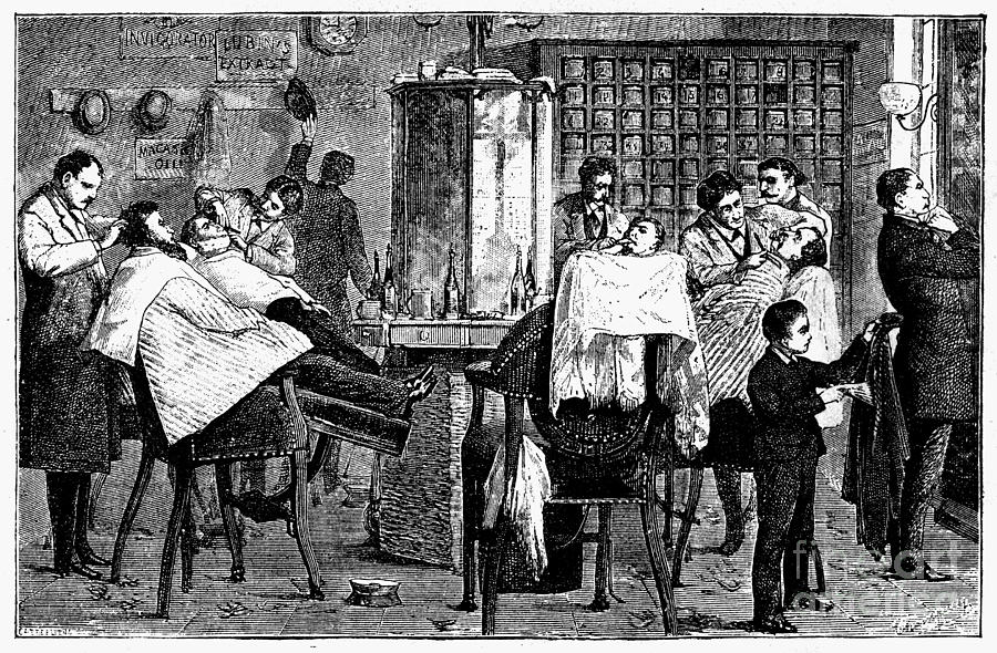 1882 Photograph - New York: Barbershop, 1882 by Granger