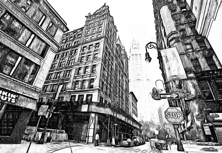 Black And White New York Artwork