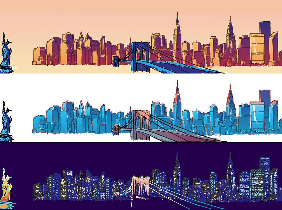 Ny Digital Art - New York City - All Day by Sam Shacked