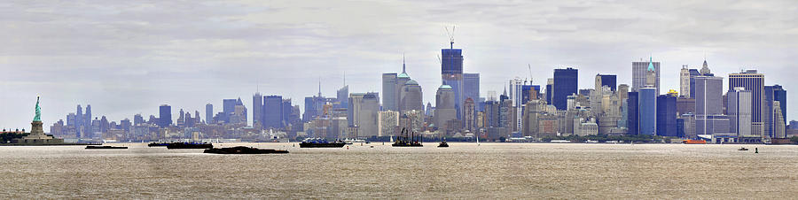 New York City Photograph - New York City and Liberty by John Brown