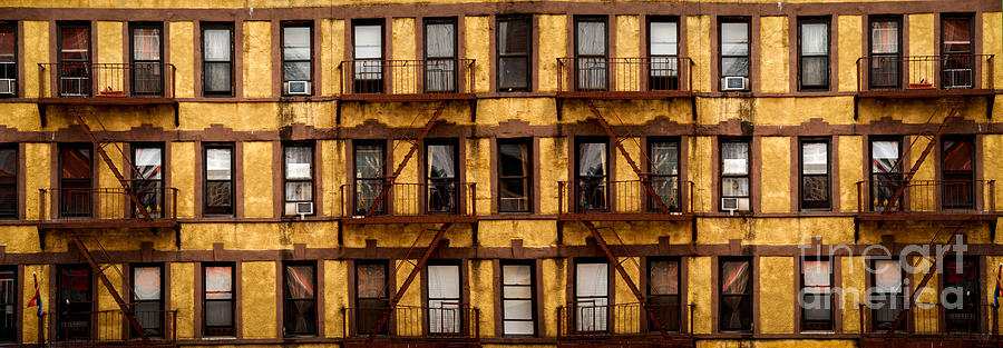 A Lot Photograph - New York City Apartment Building Study by Amy Cicconi
