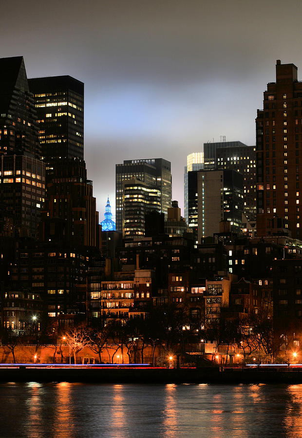 Gotham Photograph - New York City Blue by JC Findley