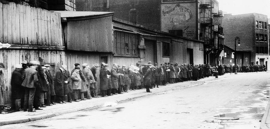 1930 Photograph - New York City Bread Line by Granger