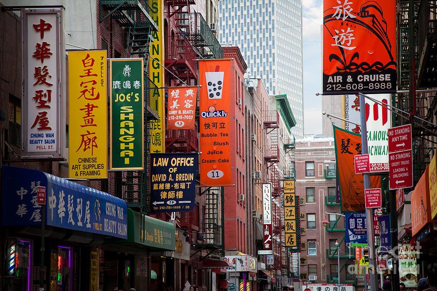 New York City Chinatown Photograph By Inge Johnsson