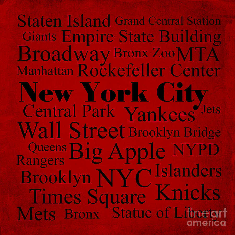 New York City Photograph - New York City by Denyse and Laura Design Studio