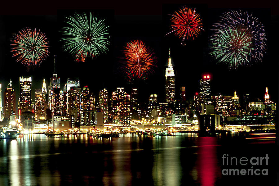 Nyc Photograph - New York City Fourth Of July by Anthony Sacco
