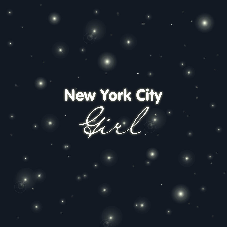New York City Girl Digital Art - New York City Girl by Pati Photography