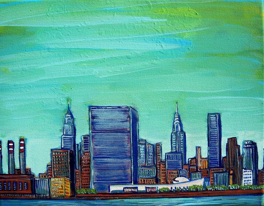 Nyc Painting - New York City Midtown by Mitchell McClenney