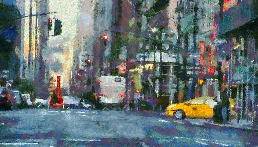 New York City Painting - New York City Morning In The Street by Dan Sproul