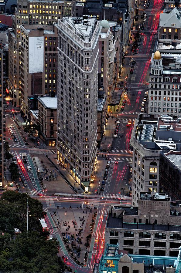 Flatiron Building Photograph - New York City Skyline Flatiron Building by Silvio Ligutti