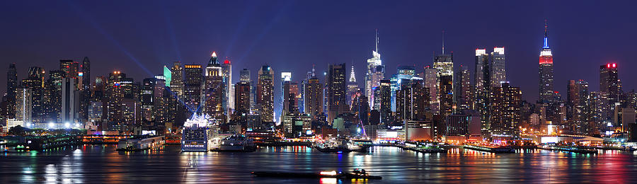 New York City Photograph - New York City Skyline Panorama by Songquan Deng