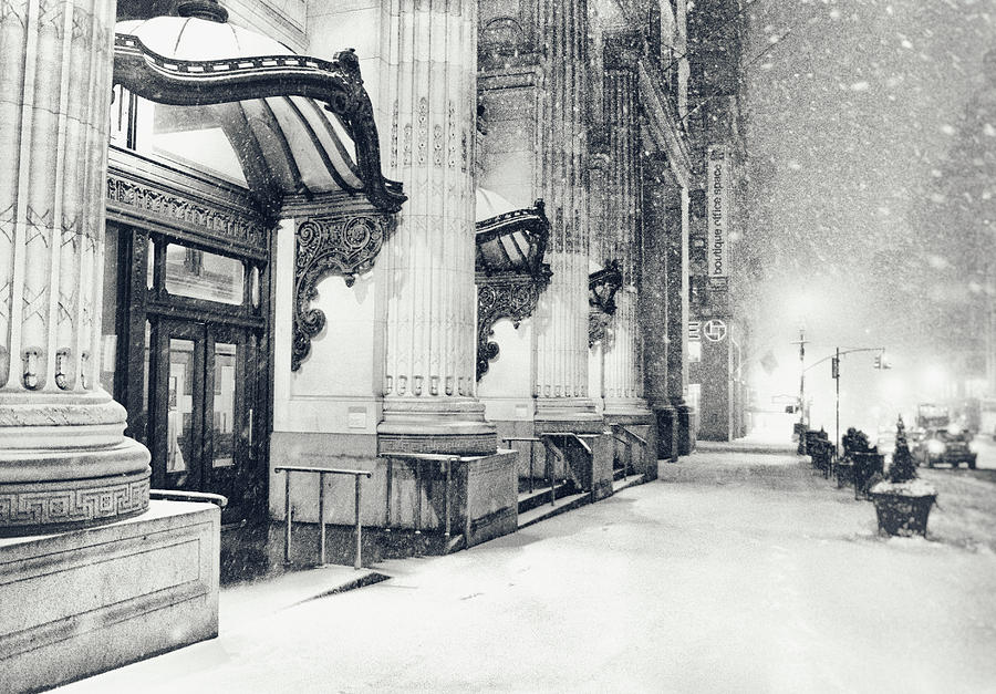 New York City Photograph - New York City - Snowy Winter Night by Vivienne Gucwa