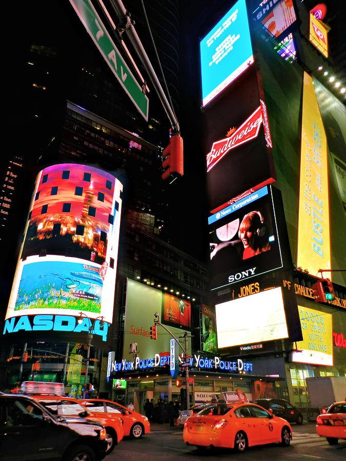 New York Ny Photograph - New York City - Times Square 004 by Lance Vaughn