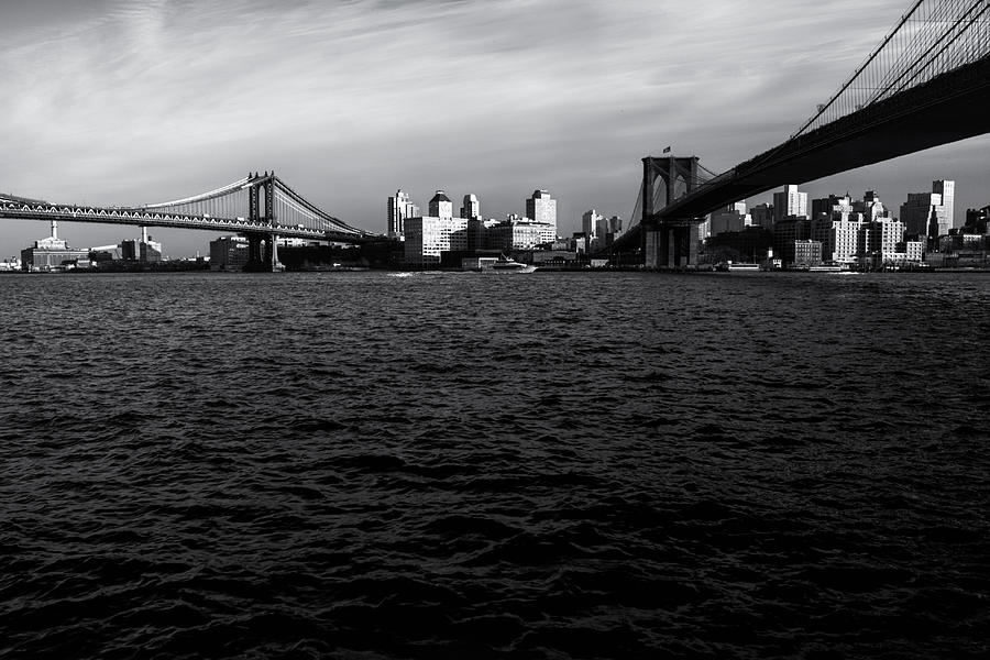 Nyc Photograph - New York City - Two Bridges by Vivienne Gucwa