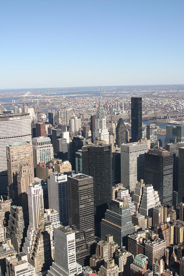 New Photograph - New York City - View From Empire State Building - 121217 by DC Photographer