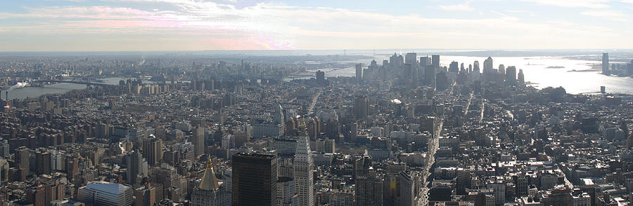 New Photograph - New York City - View From Empire State Building - 121235 by DC Photographer