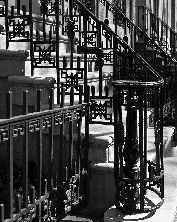 Stairway Photograph - New York City Wrought Iron by Rona Black