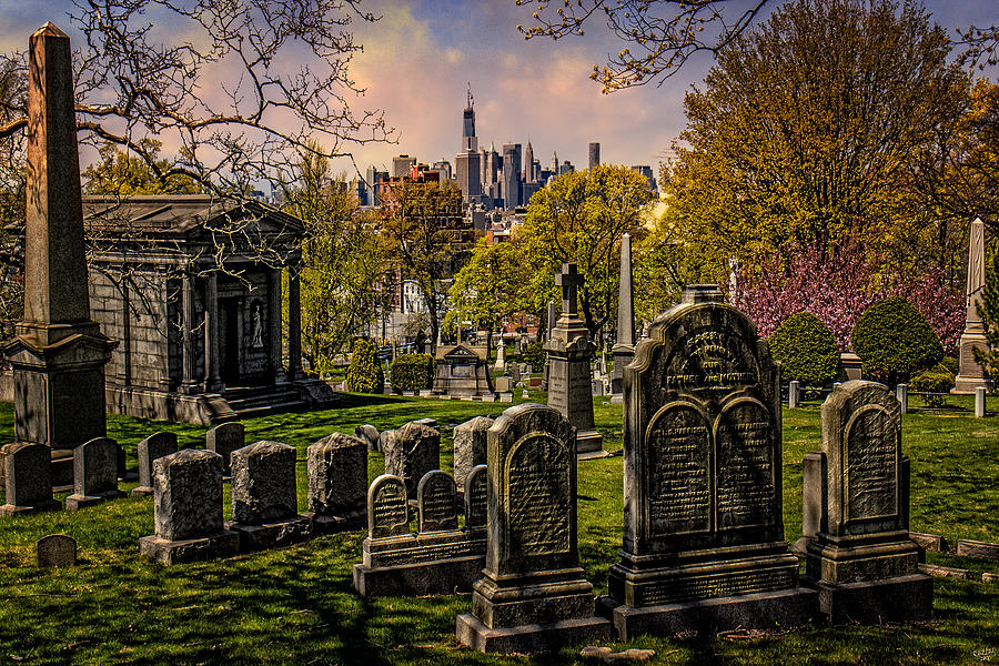 Cemetery Photograph - New York From City To City by Chris Lord