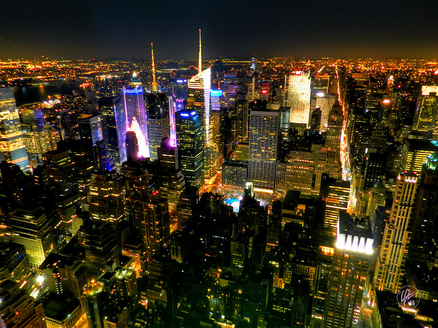 New York Photograph - New York - From The Empire State Building 003 by Lance Vaughn